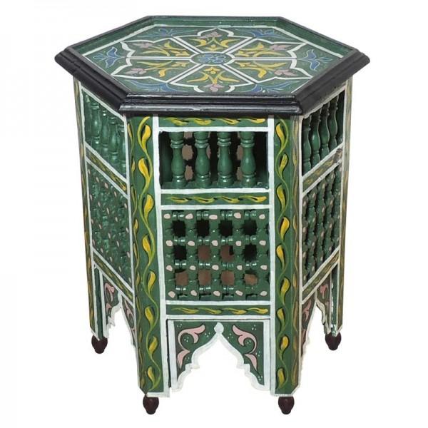 Orientalischer Beistelltisch Soha Grün