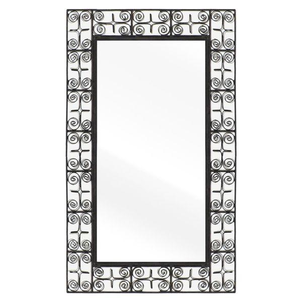 Orientalischer Wandspiegel aus Metall