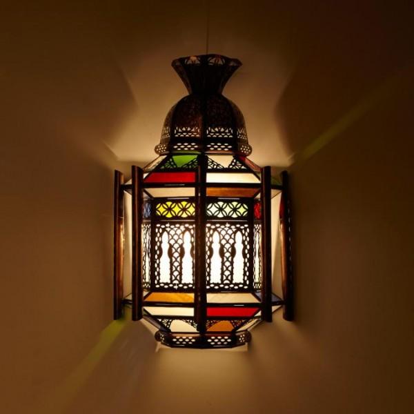 Orientalische Wandlampe Swira Weiß