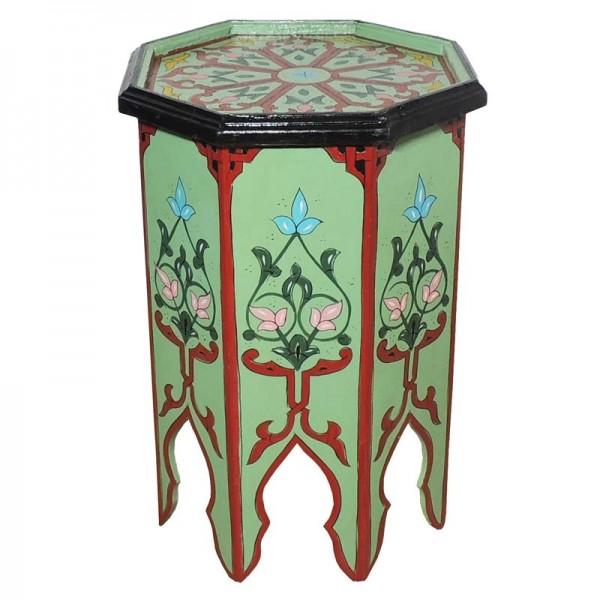 Orient Holz Beistelltisch Warda Hellgrün