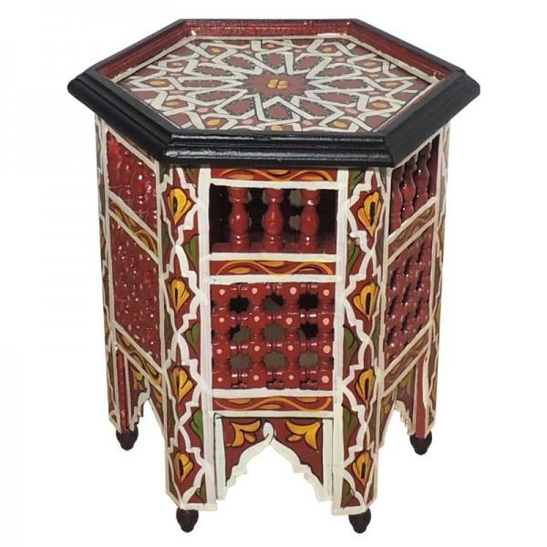 Marokkanischer Beistelltisch Fati Rot