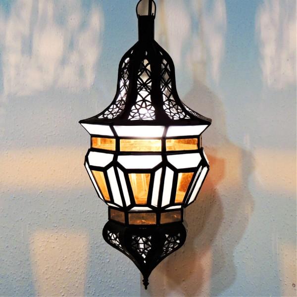 Arabische Hängeleuchte Hoda Weiß/Gelb