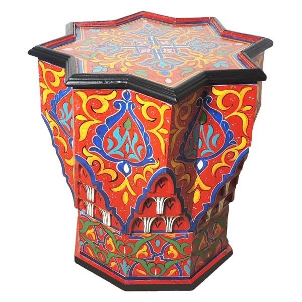 Marokkanischer Beistelltisch Étoile Rot