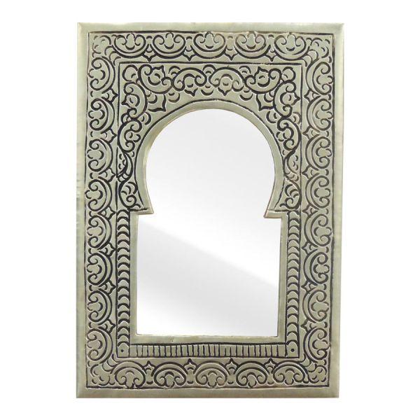 Messing Spiegel Orient Look Silber