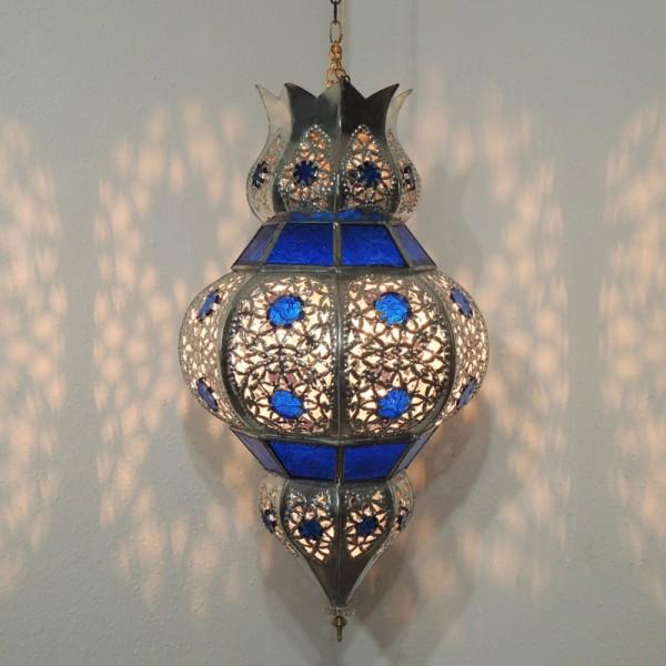 Orientalische Deckenlampe Abla Blau