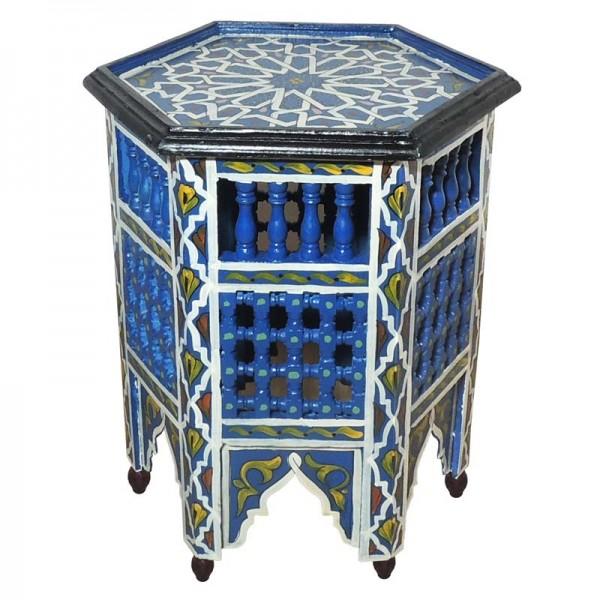 Orientalischer Beistelltisch Soha Blau