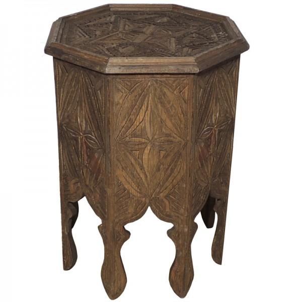 Orientalischer Holz Beistelltisch Natur