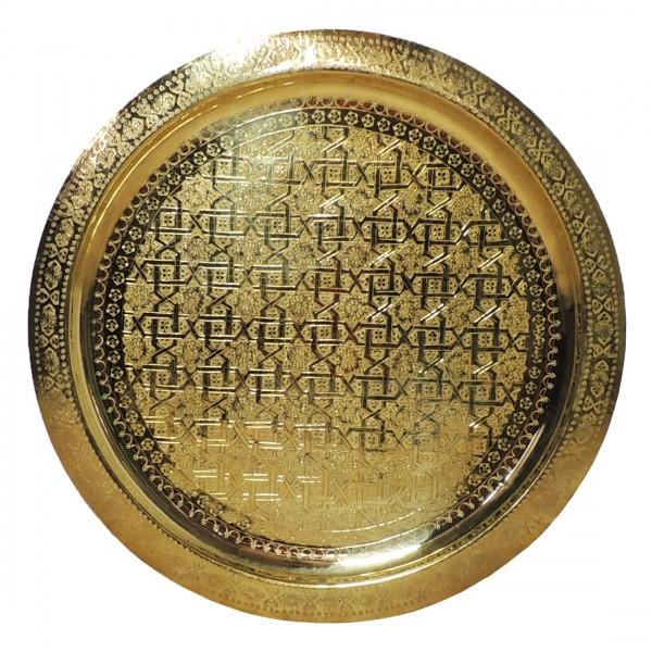 Teetablett aus Marokko Messing 70 cm
