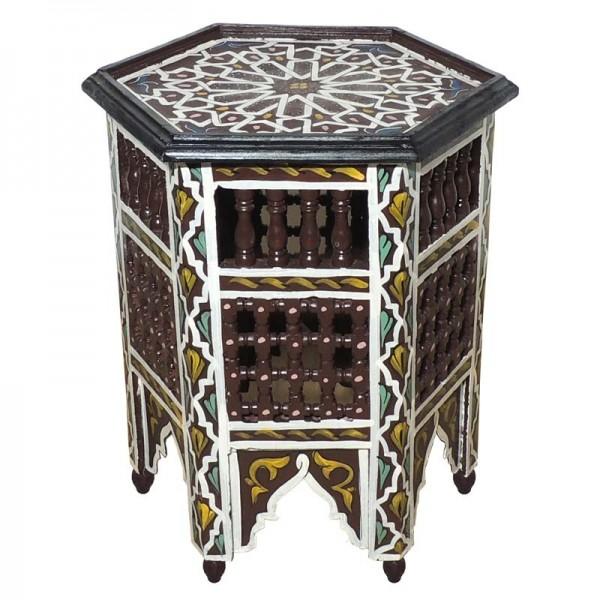 Orientalischer Beistelltisch Soha Braun