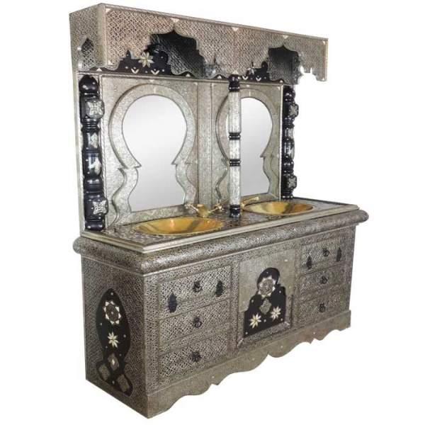 orientalischer Waschbecken-Schrank