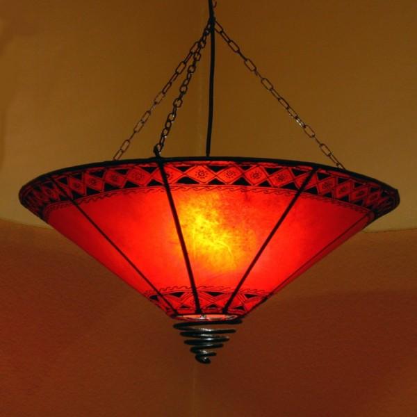 Orientalische Deckenlampe aus Leder