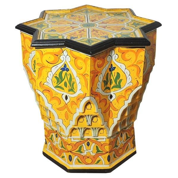 orientalischer Beistelltisch Étoile Gelb