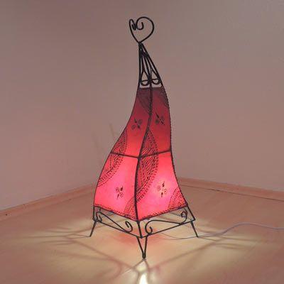 Hennalampe / Lederlampe Sara Rot 50