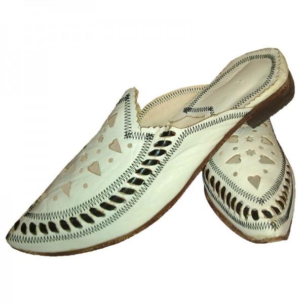 Marokkanische Schuhe Nora Weiß