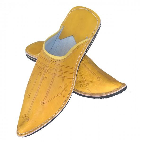 orientalische Schuhe Aladdin Gelb