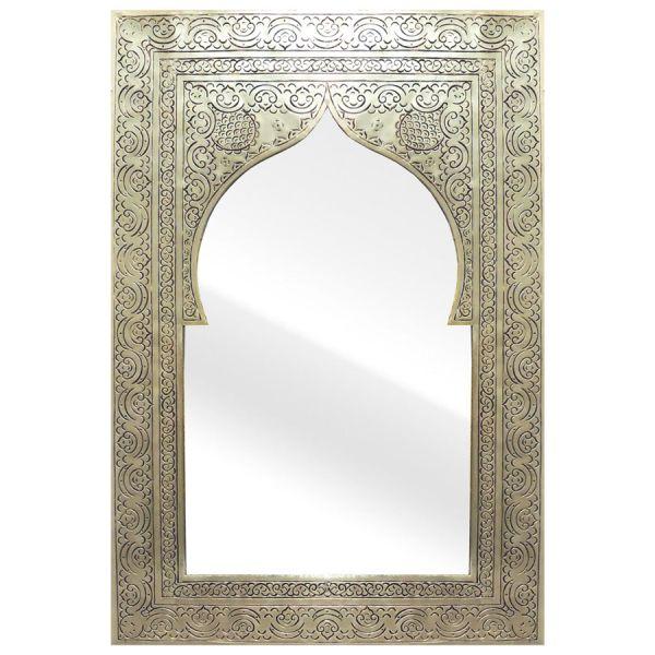 Orientalischer Wandspiegel Silber