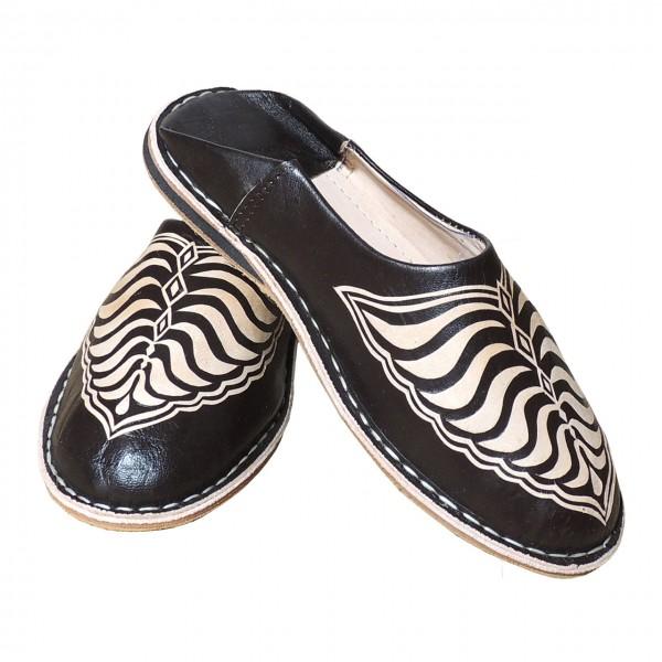 Marokkanische Leder Schuhe Zebra Braun