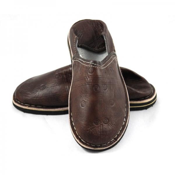 Marokkanische Schuhe Braun