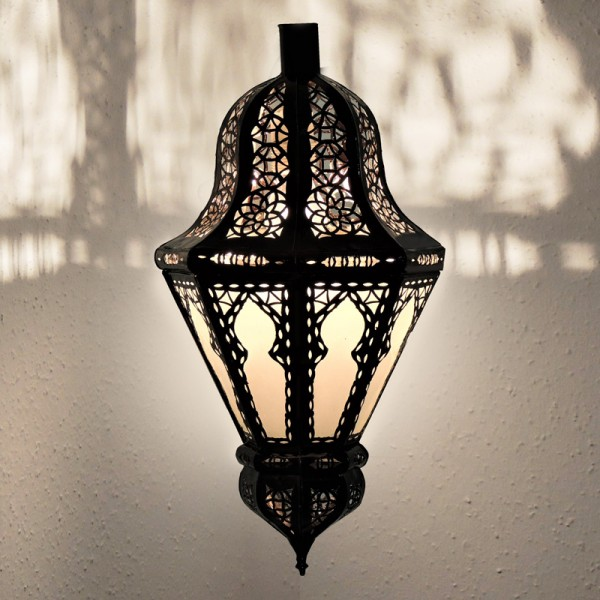 Marokkanische Wandlampe Belota Weiß
