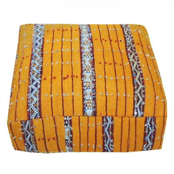 Orientalisches Kelim Sitzkissen Gelb
