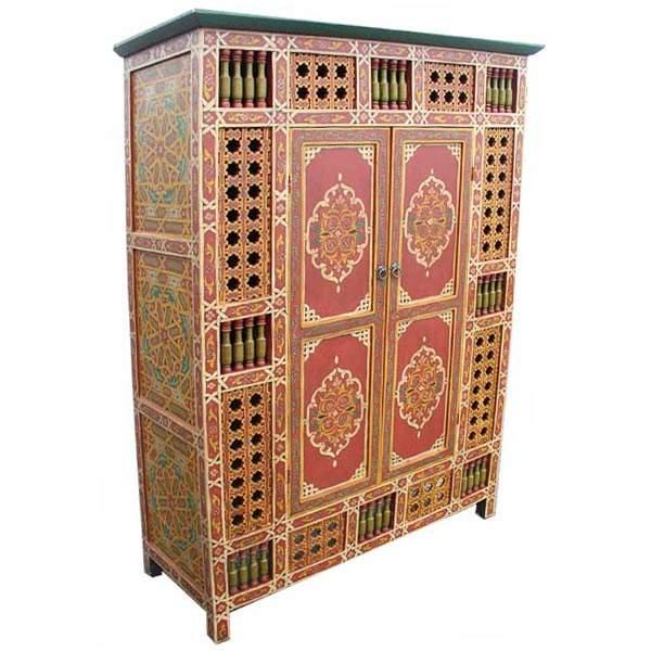 Orientalischer Schrank Beldi Rot