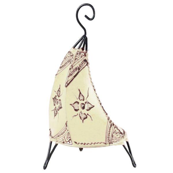 Marokkanische Tischlampe Maya Weiß 38