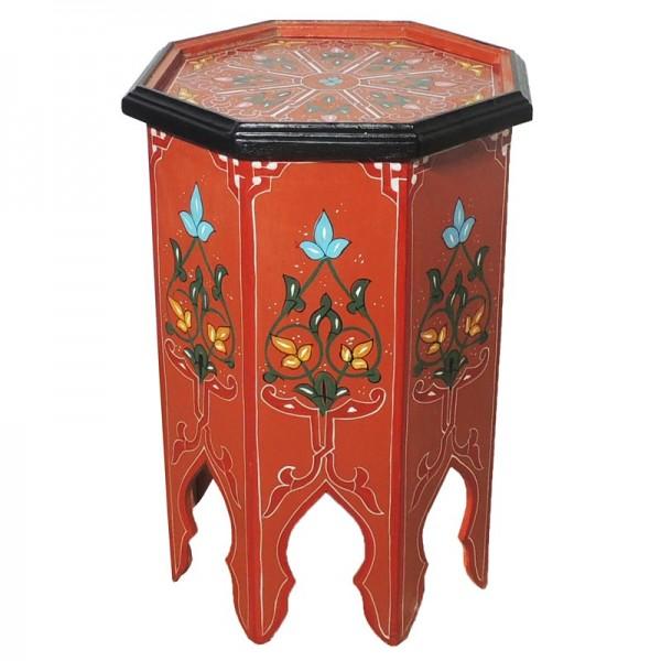Marokkanischer Beistelltisch Warda Hellrot