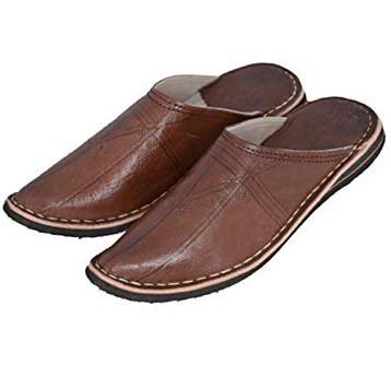 Orientalische Slipper Schuhe Braun