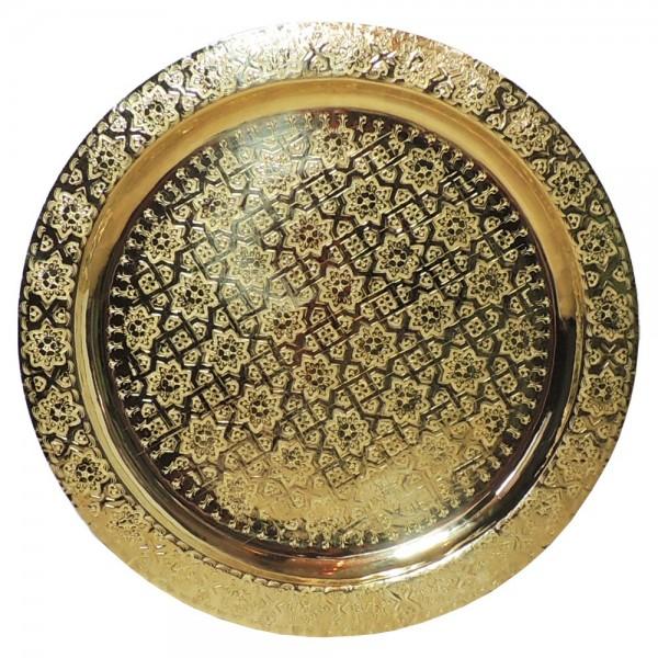 Teetablett aus Messing Bnani 60 cm