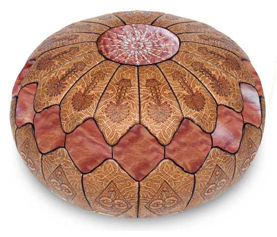 Marokkanisches Sitzkissen Kora Braun