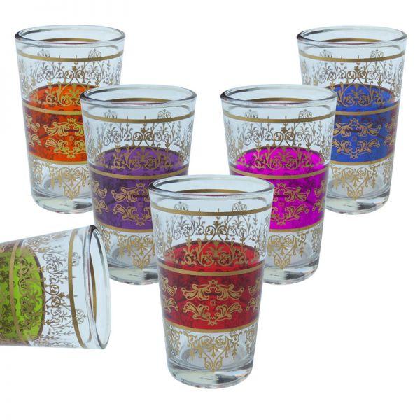 Arabische Teegläser Tounsi 6 Stück