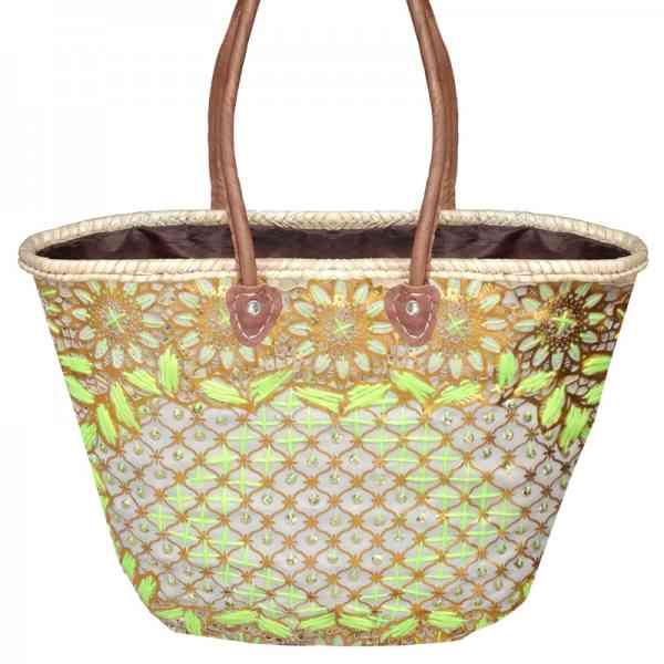 Marokkanische Korbtasche aus Stroh