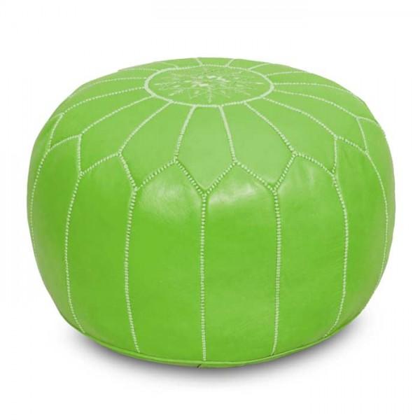 Arabisches Leder Sitzkissen Hellgrün