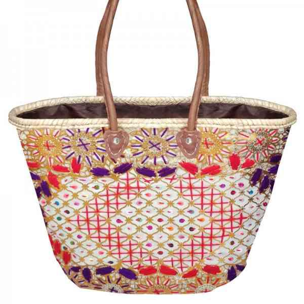 Marokkanische Korbtasche / Flechttasche