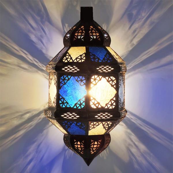 Orientalische Wandlampe Titia Blau