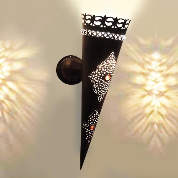 Orientalische Wandlampe Metall Palast
