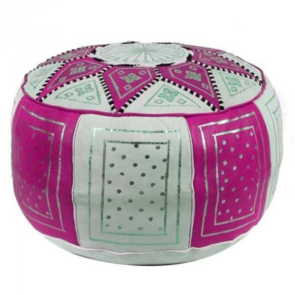 Marokkanisches Sitzkissen Fes Pink