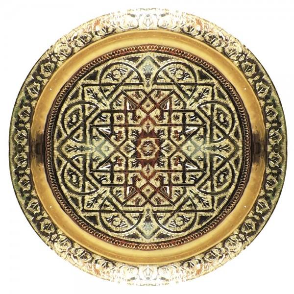 Teetablett aus Marokko Messing 60 cm