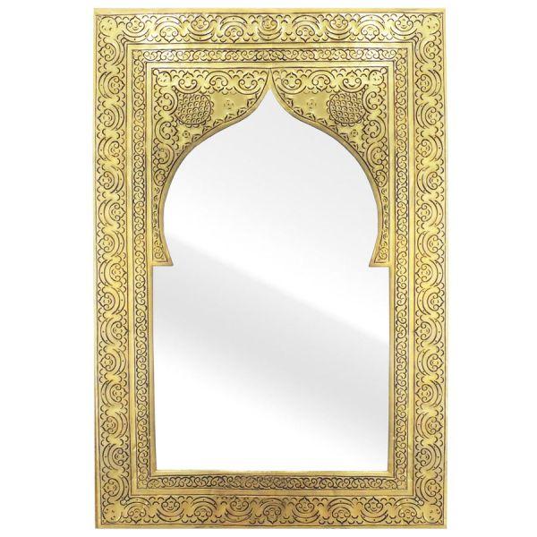 Schöner Wandspiegel aus Messing