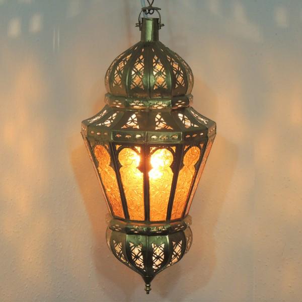 arabische Hängeleuchte Lubna Gold/Gelb