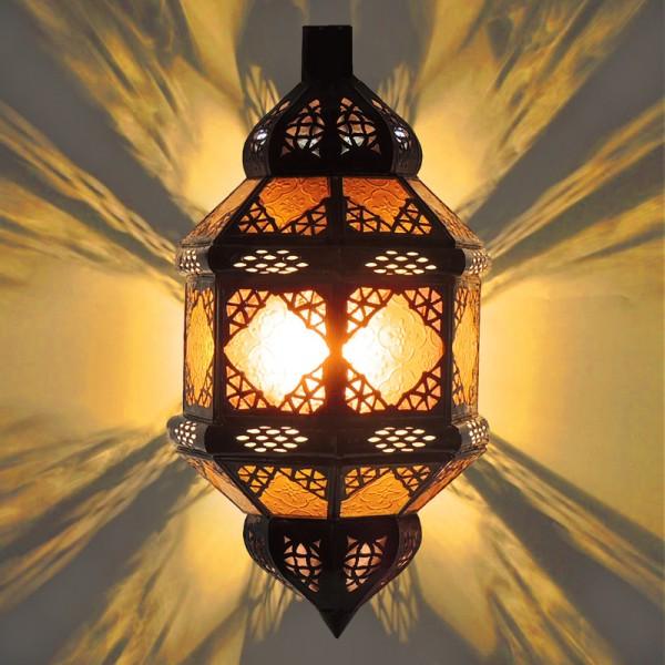 Orientalische Wandlampe Titia Gelb