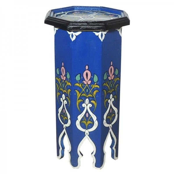 Orientalischer Beistelltisch Tola Blau