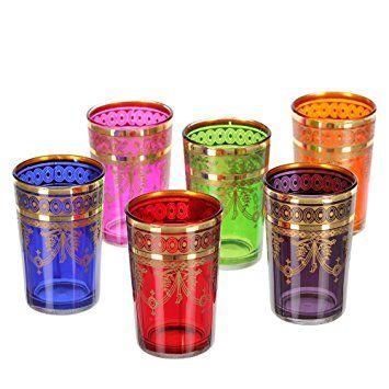 Marokkanische Teegläser Gold 6er Set