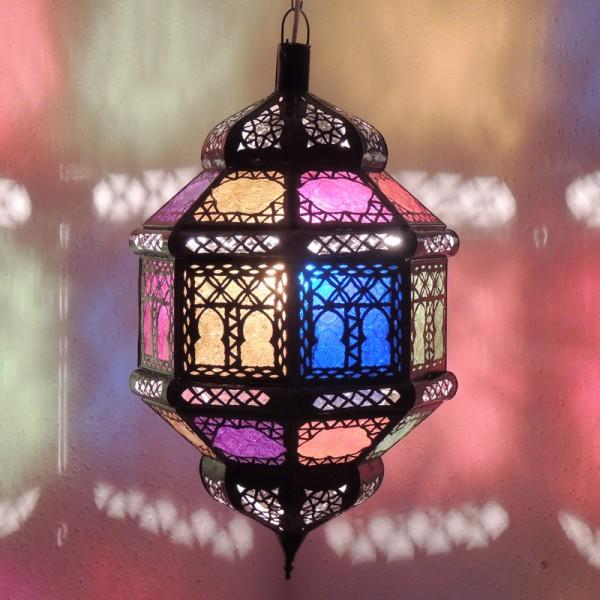 Orientalische Deckenlampe Titia Biban Bunt